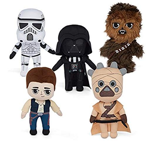 Anniversary Collectors Set - Star Wars 40th Anniversary Plush Collectors Set of 5 Vader Han Chewie Tusken
