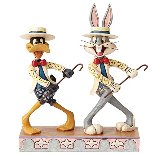 Jim Shore Looney Tunes On with the Show Bugs Bunny Daffy Duck Figurine 4055775 ()