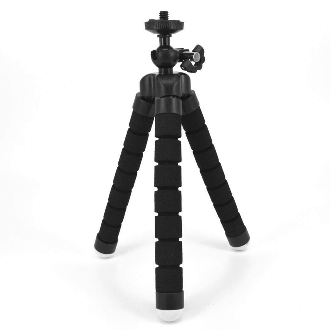 Onbio ジェネリック 携帯電話カメラ Bluetooth セルフタイマー ミニスポンジ三脚ブラケットセット 三脚一式, NASF039518_B*  ブラック B07PYV1S92
