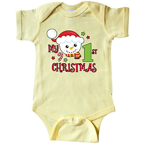 1st Christmas Infant Creeper - inktastic - My 1st Christmas with Infant Creeper 6 Months Banana Yellow 2e13f