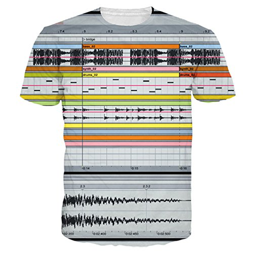 Uideazone 3d DJs Music Sound Design Shirt Cool Graphics Tees - Import It All
