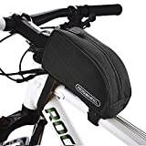 Allnice 12654 1L Outdoor Mountain Bicycle Cycling Frame Front Top PVC Tube Bag Bike Pouch (All Black)