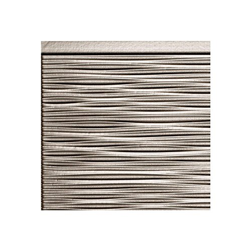 Fasade Easy Installation Ripple Brushed Nickel Backsplash Panel For Kitchen And Bathrooms  6  X 6  Sample
