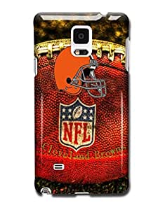 Tomhousomick Custom Design The NFL Team Cleveland Browns Case Cover for Samsung Galaxy Note 4