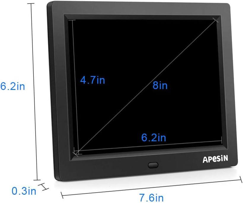 Digital Picture Frame APESIN 8 Inch 1024x768 Pixels HD Screen Black