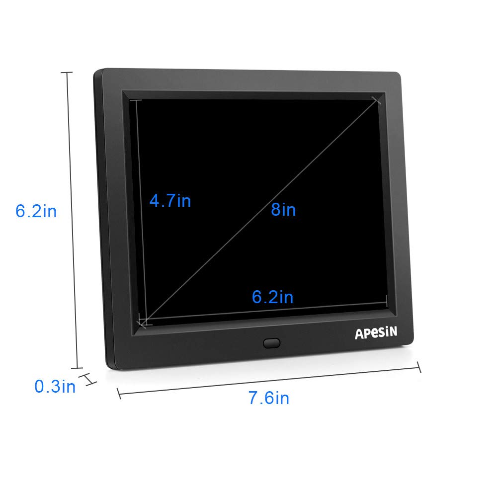 Digital Picture Frame, APESIN 8 Inch 1024x768 Pixels HD Screen(Black) by APESIN (Image #6)