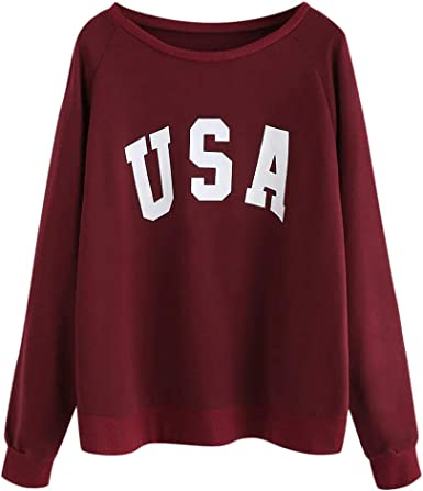 Imily Bela Girls Graphic Long Sleeve Sweatshirts Heart Print Cute Blouses Tops