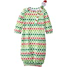 Mud Pie Unisex-Baby Newborn Tree Gown with Santa Pacy, Green, 0-3 Months