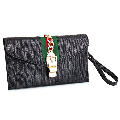 f6fa3722fa574f SSMY Designer Evening Envelope Clutch Bags Wristlet Purse Cross Body Bag  with Adjustable Strap