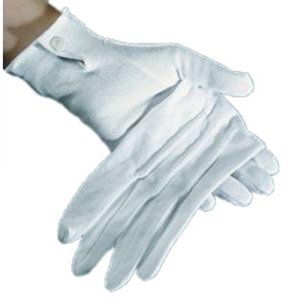 HAAC - Guanti da uomo in cotone, taglia L, colore: Bianco