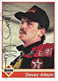AUTOGRAPHED Davey Allison 1992 Traks Race Products (#28 Texaco Havoline Racing) Rare Vintage Signed NASCAR Collectible Trading Card with COA
