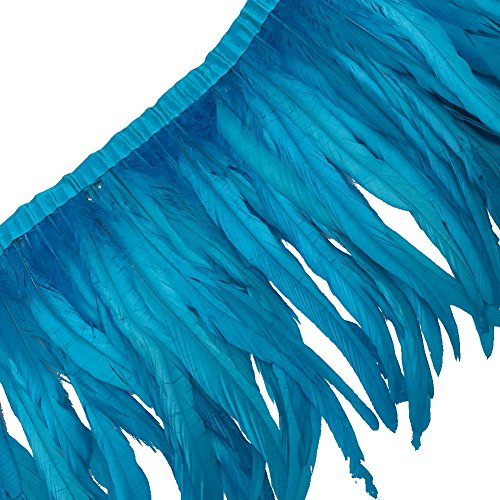 Feather Trim - Sowder Rooster Feather Fringe Trim 12-14