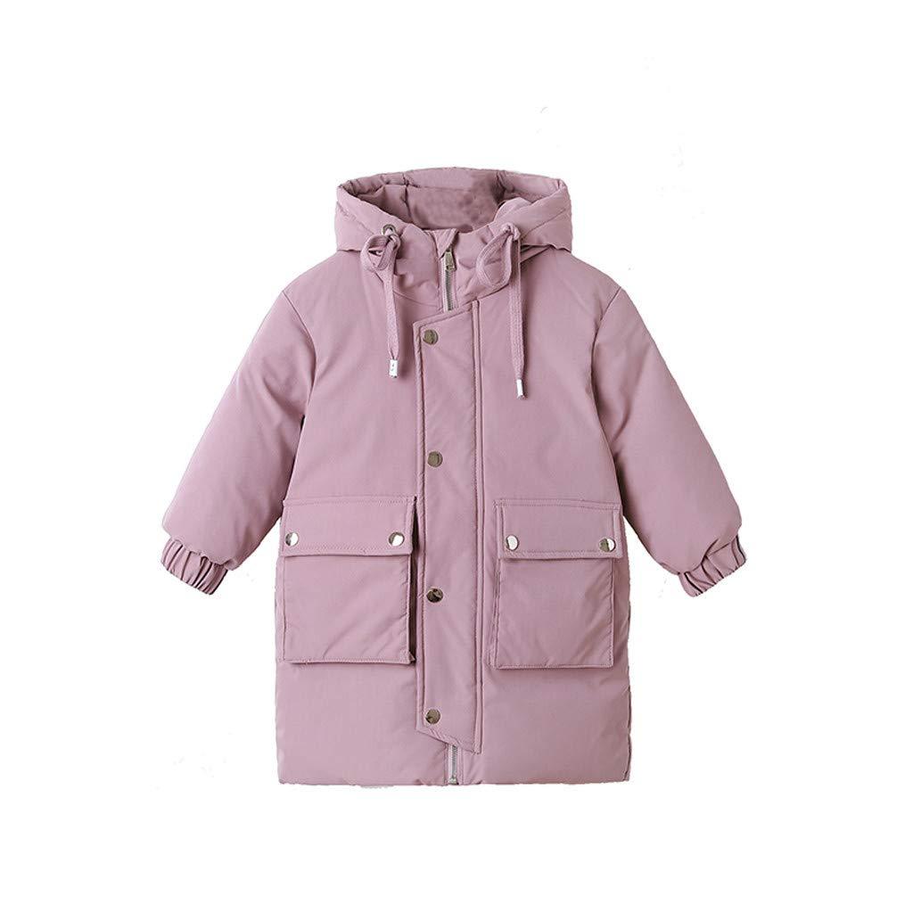 Lanhui Children's Hooded Cotton Padded Warm Coat, Winter Jacket Zip Thick Outdoor Snow Outwear by Lanhui