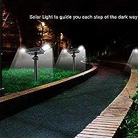 Al Aire Libre Solar Impermeable Led Jardín Paisaje Insertar Proyector Jardín Césped Decoración Luz Hogar Exterior Terraza Decoración Iluminación: Amazon.es: Iluminación