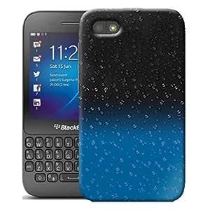 New Blue 3D de gotas de lluvia carcasa rígida para Blackberry Q5 con lápiz capacitivo
