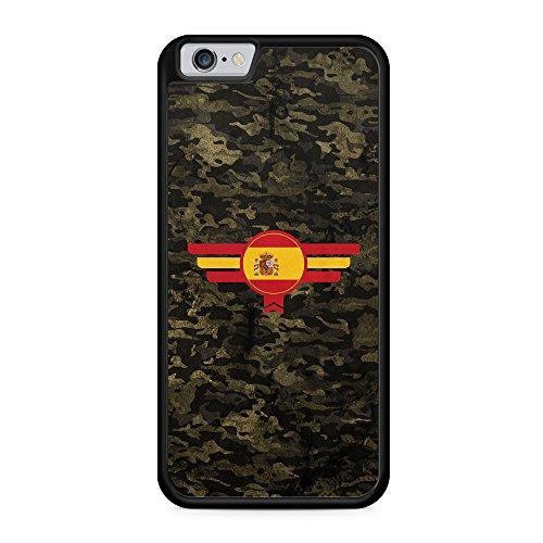 Espana Spanien Camouflage - Hülle für iPhone 6 & 6s SILIKON Handyhülle Case Cover Schutzhülle - Spain Flagge Flag Military Militär