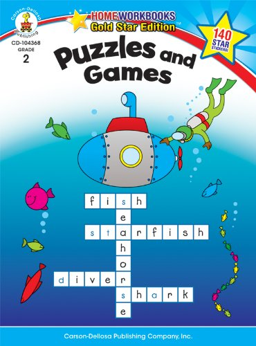 Puzzles and Games, Grade 2: Gold Star Edition (Home Workbooks)