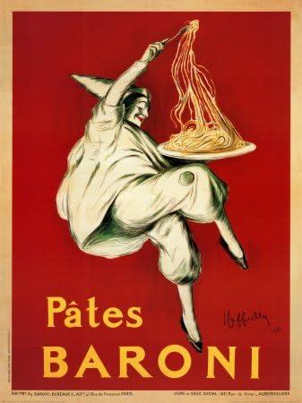 Amazon.com: Pates Baroni, c.1921 Arte Cartel Imprimir Por ...