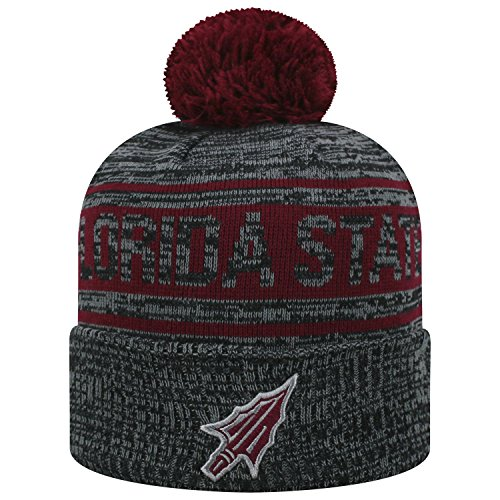 Top of the World Florida State Seminoles Official NCAA Cuffed Knit Sockit to Me Stocking Stretch Sock Hat Cap - Seminoles Florida Christmas State Stocking