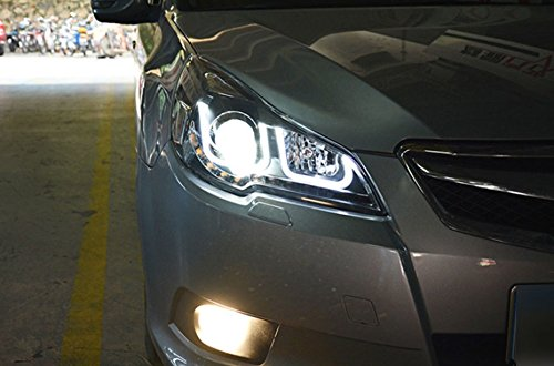 GOWE Car Styling For Subaru Outback 2010-2014 for Outback head lamp LED DRL Lens Double Beam D2H HID Xenon bi xenon lens Color Temperature:8000K;Wattage:35K 1
