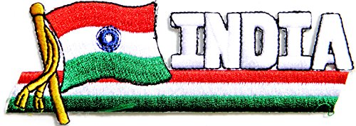 INDIA Nation Flag Jacket T shirt Uniform Patch Sew Iron on Embroidered Badge Sign - Lee Map Outlets