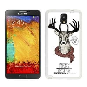 Best Buy Christmas Deer White Samsung Galaxy Note 3 Case 1