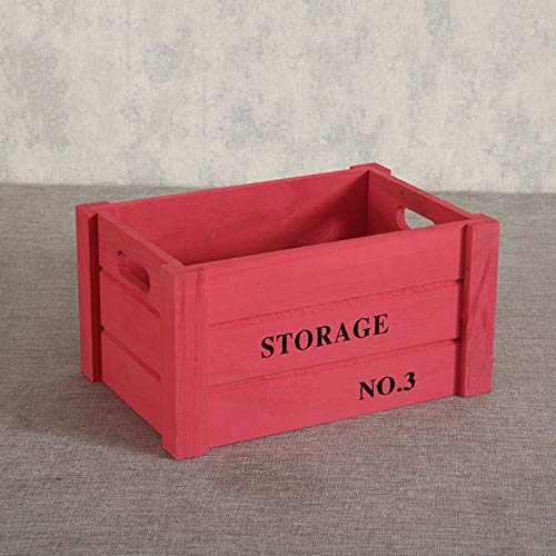 (Solid Wood Storage Box - Wooden Storage Box Combination, Large Desktop Book Storage Box, Drawer Storage Box Red Extra Large)