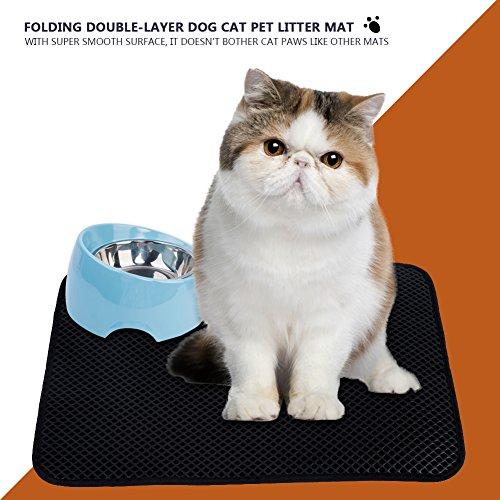 Cat Litter Mat Double-Layer Pet Puppy Pussy Kitty Kitten Camada Trapper con Capa Base Impermeable Eco-Friendly Ligero EVA(L): Amazon.es: Productos para ...