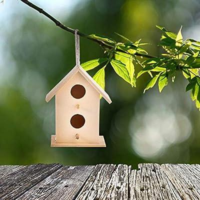 poetryer Nido Casa para Pájaros Birdhouse De Madera Montado En La Pared Nido De Pájaro De Madera Casita Decoración De Jardín, Terraza O Balcón: Amazon.es: Hogar