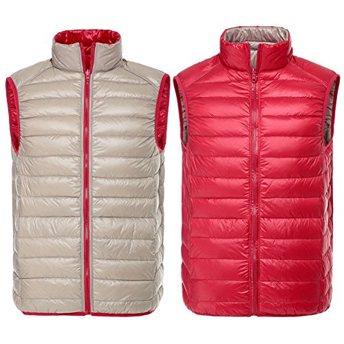 Wear Gi¨´ Laterale Double Vest Hibote Rosso Solid champagne Inverno Uomo 4Cxpngqw
