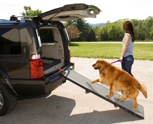 pet-gear-tri-fold-ramp-71-inch-extra-wide-pet-ramp-holds-200lbs-black-gray-not-carpeted