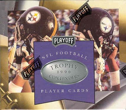 NFL Football Playoff Trophy Contenders 1996 Box 24 Packs 6