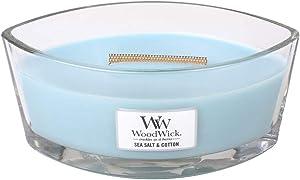 WoodWick Sea Salt/Cotton Hearthwick Ellipse Candle, 16 oz.