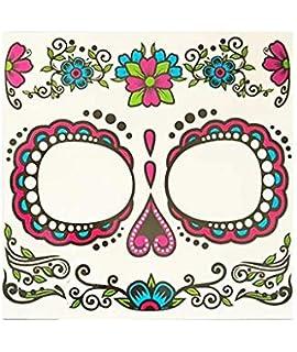 Partylandia Tatuaje FX Catrina Rosa - Halloween, Maquillaje