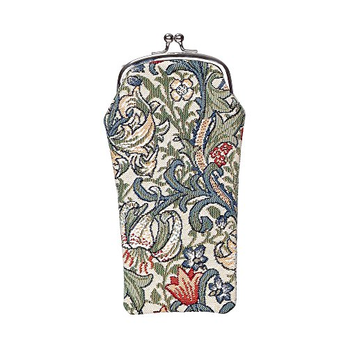 Signare Tapestry Eyeglasses Pouch Sunglasses Bag Spectacle Pouch by Designer William Morris Golden Lily - Designer Cases Spectacle