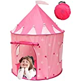 Kiddey Princess Castle Kids Play Tent, Girl's Children Playhouse for Indoor or Outdoor, Pink, By Kiddey™