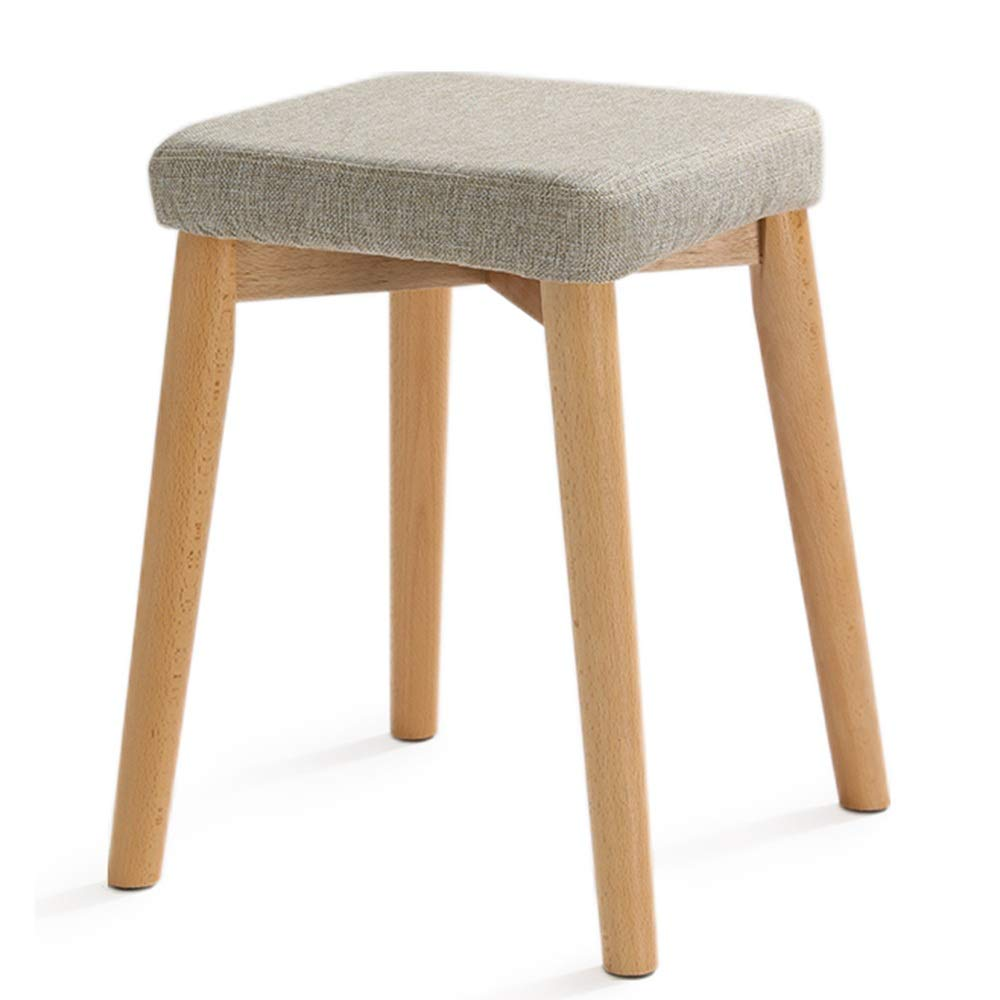 Dining Stool Solid Wood Home Kitchen Bedroom Living Room Anti-Slip Mute Stool