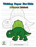 Writing Paper For Kids. A Dinosaur Notebook: Handwriting Practice Paper with Dotted Lined , ABC Kids. A Dinosaur Cover design Dimetrodon.