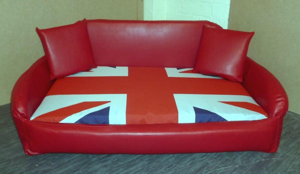 Amazon.com: Zippy – piel sintética de color rojo sofá cama ...