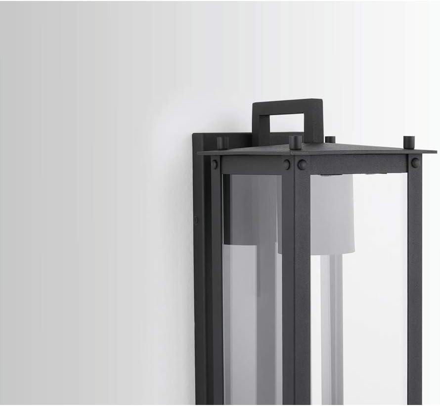 Capital Lighting Hunt 1 Light Small Outdoor Wall Lantern 934611BK-GL Black
