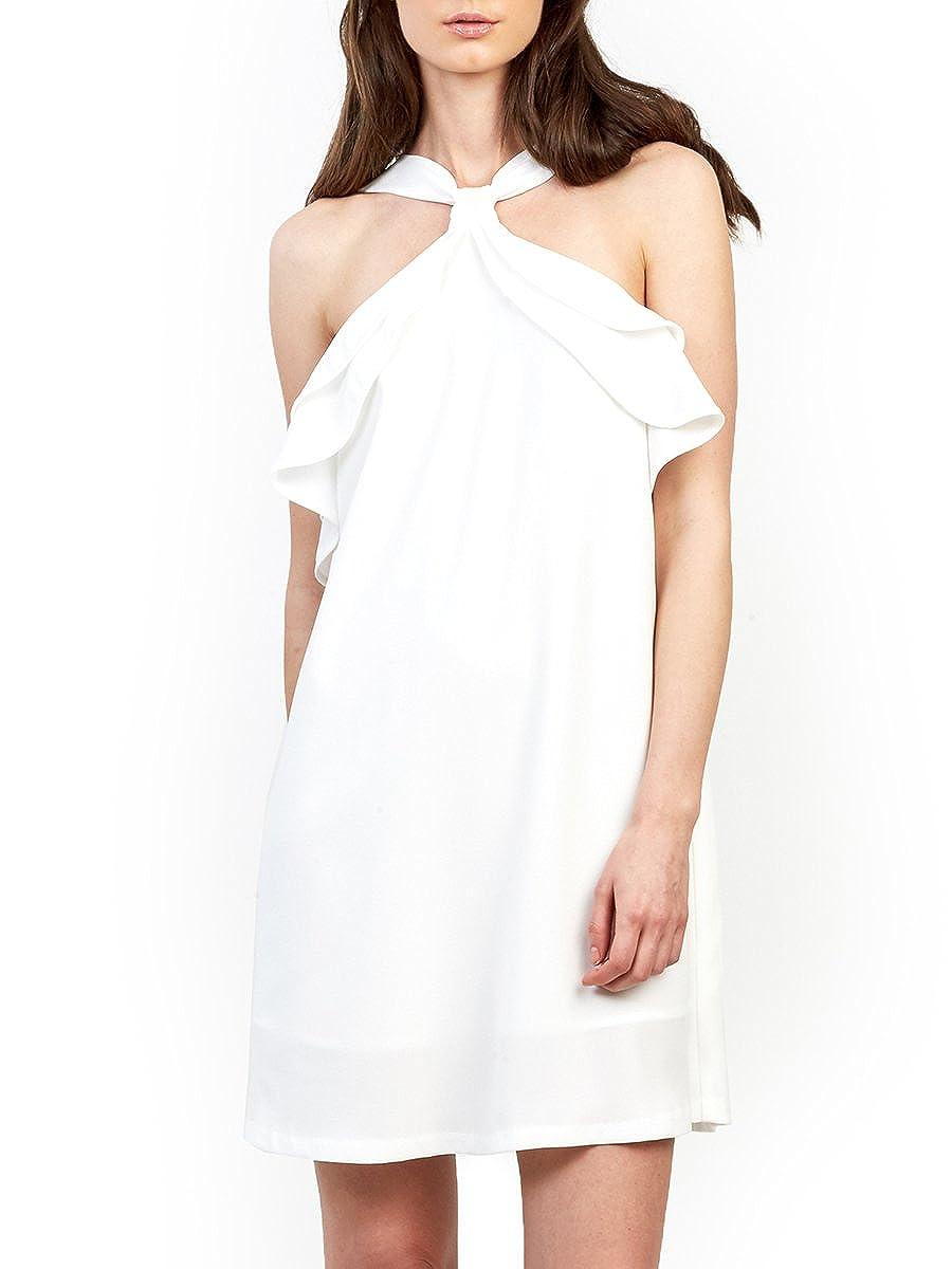Gracia Dress Open Shoulder Ruffle Shift 20981