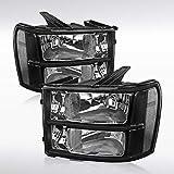 Autozensation GMC Sierra 1500 2500 3500HD Euro Black Diamond Headlights Left+Right