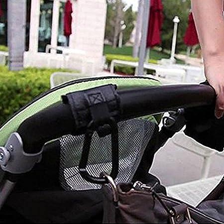 Rokoo Cochecito de bebé Cochecito Buggy gancho percha aleación mosquetón compras negro (#1)