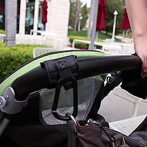 Rokoo Cochecito de bebé Cochecito Buggy gancho percha aleación mosquetón compras negro (#1): Amazon.es: Coche y moto