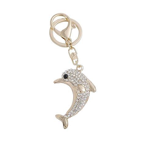 CAVIVI Llavero de delfín con diseño de Animales de Cristal ...