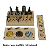 Aventik 3 in 1 Classic Wooden Fly Tying Tool Caddy Fishing Tools Organizer, Station Fly Tying Accessories Designed by Fly Tying Specialist