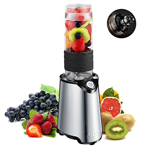 Smoothie Blender, Aicok Personal Blender, Stain...