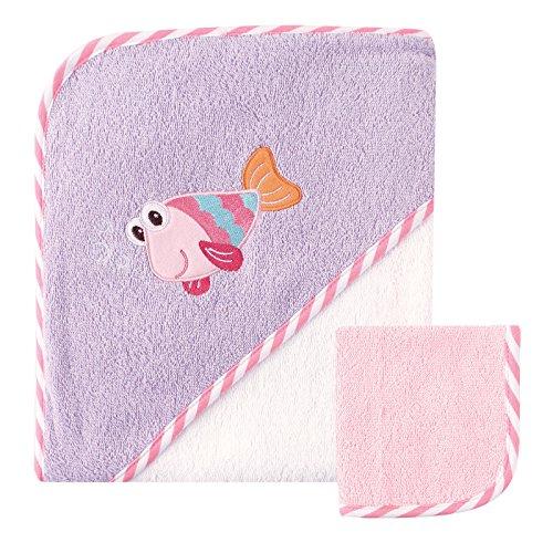 Buy purple hooded baby towel