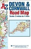 Devon & Cornwall Road Map (A-Z Road Map)