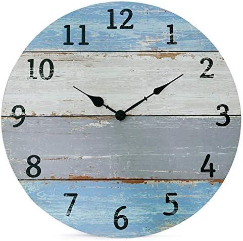 NIKKY HOME Vintage Coastal Wall Clock
